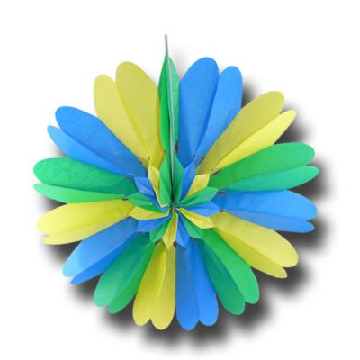 "Rosette ""blau-gelb-grün"""