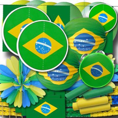 Brasilien Deko Set groß mit umfangreicher Partydeko