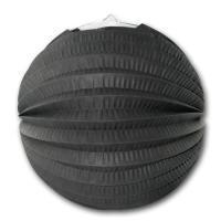 1 Lampion schwarz aus schwer entflammbarem Papier und...