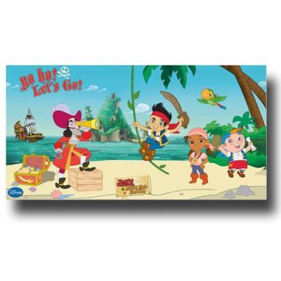 Kunststoff Hintergrundbild mit großem Motiv für die Mottparty zum Kindergeburtstag Jake der Pirat.