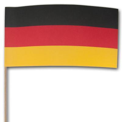 Fähnchen am Holzstab mit Deutschland Flagge.