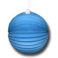 1 Partydeko Lampion blau aus schwer entflammbarem Papier,...