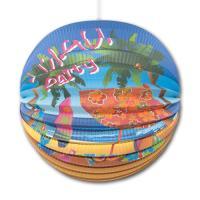 1 Lampion mit buntem Hawaii Strandmotiv für Ihre...