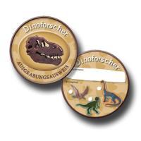 6 Kindergeburtstag Dinosaurier Spiel-Forscherausweis