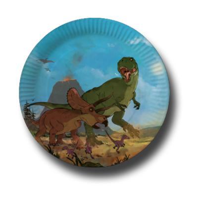 Pappteller Kindergeburtstag Dinosaurier