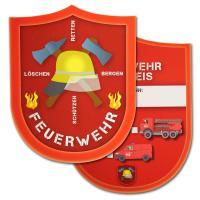 6 Kindergeburtstag Spielausweise Feuerwehr
