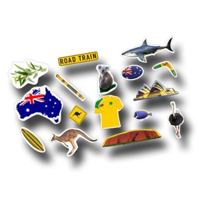 Länderdeko Australien Riesenmotiv Konfetti