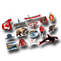 Dekomotive mit Kanada Motiven