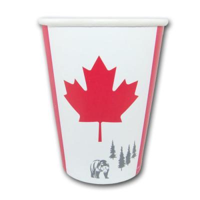 Pappbecher mit Kanada Flaggenmotiv