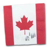 20 rot-weiße Kanada Motivservietten mit dem typischen...