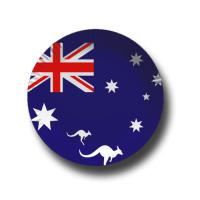 Pappteller mit Australien Flaggenmotiv