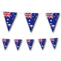 Wimpelkette mit Australien Flaggen Detailansicht