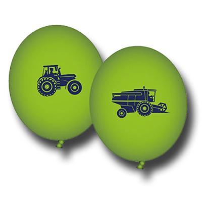 Grüne Luftballons mit Motiven für den Kindergeburtstag mit Partymotto Bauernhof