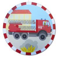 Kindergeburtstag Feuerwehr Dekohänger Motiv Feuerwehrauto