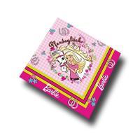 20 Motivservietten mit Barbie Pferdeglück Motiv in rosa...