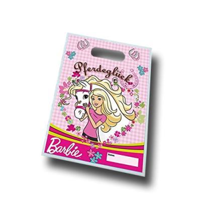 6 Partytaschen mit Barbie Pferdeglück Motiv.