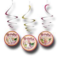 """3 """"Barbie Pferdeglück"""" Deko-Spiralen für die besondere..."""