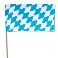 Bayern Flaggen aus Papier am Holzstab.