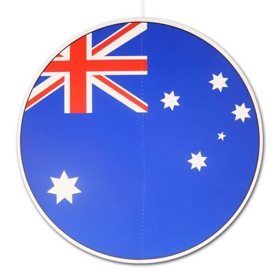 Dekohänger Australien mit dem Motiv der australischen Flagge 28 cm Durchmesser