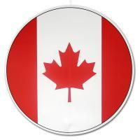 Großer, runder Dekohänger mit Kanada Flaggen Motiv in rot...