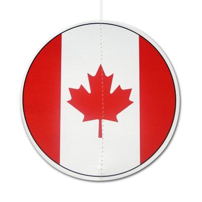 Dekohänger mit Kanada Flaggen Motiv, rund, ca. 13,5 cm DM, beidseitig bedruckt.