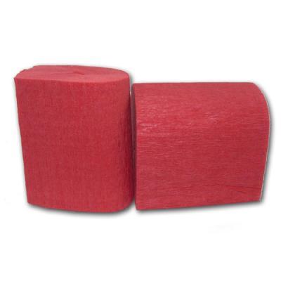 Partydeko Krepp-Papier rot