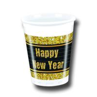 8 Silvester Plastikbecher HAPPY NEW YEAR