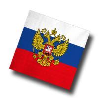 Russland Motivservietten weiß-blau-rot mit Flaggenmotiv
