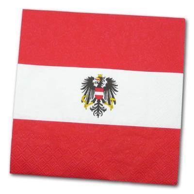 Österreich Motivservietten rot-weiß-rot mit Adler