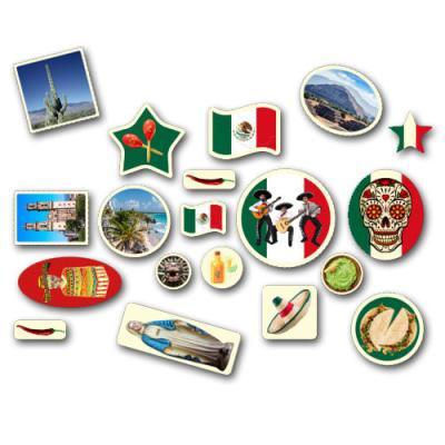 Länderdeko Mexiko Riesenmotiv Konfetti