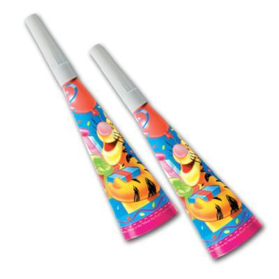 Party-Tröten mit Winnie the Pooh Motiv für den Kindergeburtstag Partyspaß.