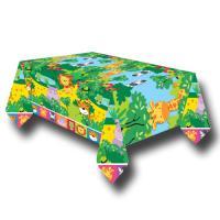 1 abwischbares Tischtuch für den Kindergeburtstag Safari.