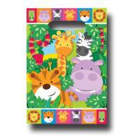 8 Partytaschen mit bunten Safari Tiermotiven für die...