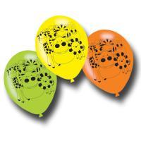 6 Luftballons mit Kindergeburtstag Safari Tiermotiven.