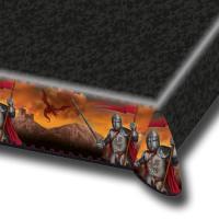 1 Tischtuch mit außergewöhnlichem Ritter Motiv für einen...