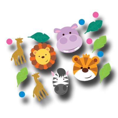 1 Packung buntes Motivkonfetti für den Kindergeburtstag Safari