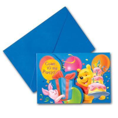 Winnie the Pooh Kindergeburtstag Einladungskarten mit Umschlägen