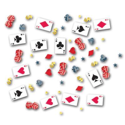 Originelles Motiv-Konfetti mit zahlreichen Casino und Poker Motiven.