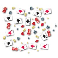 Originelles Motiv-Konfetti mit zahlreichen Casino und...