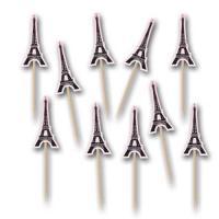 Originelle Partypicker mit Eiffelturm Motiv für die...