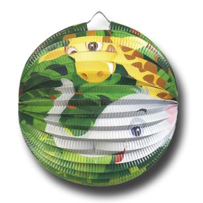 1 Lampion für den Kindergeburtstag mit Partymotto Tiere
