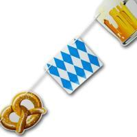 Bayrische Girlande für die Oktoberfest Deko mit Bierkrug,...