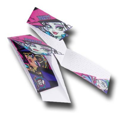 6 Einladungskarten mit Umschlägen für die Kindergeburtstag Mottoparty Monster High