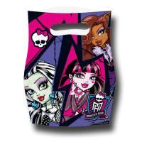 6 Partytaschen mit Monster High Motiven für die Mitgebsel...