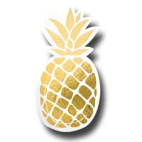 Pappteller in Form einer goldenen Ananas.