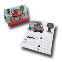 8 Einladungskarten mit Umschlägen für den...
