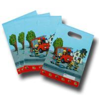 8 Partytaschen mit Feuerwehr Motiv für den...