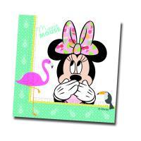 20 Kindergeburtstag Servietten mit Minnie Mouse Tropical...