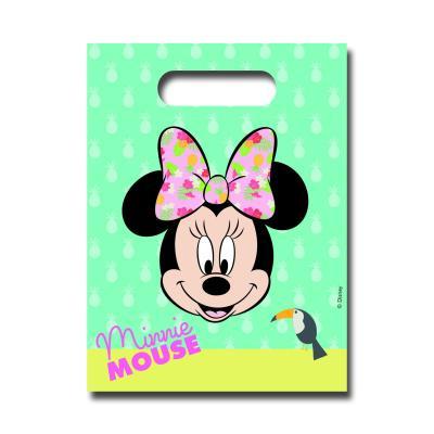 6 Partytaschen für Kindergeburtstags Mitgebsel, passend zur Mottoparty Minnie Mouse.