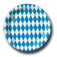 Pappteller für Partymotto Oktoberfest 10 Stück